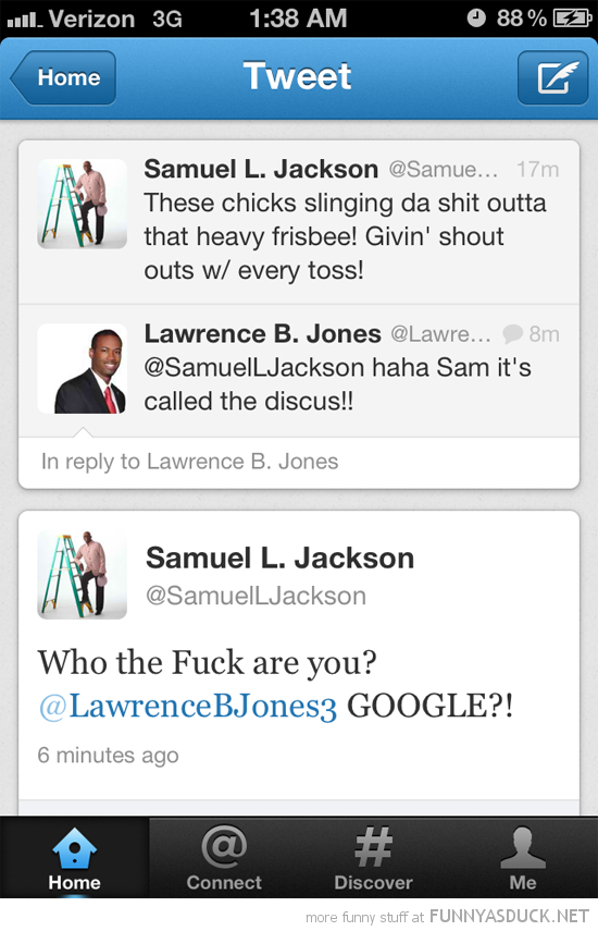 samuel l jackson heavy frisbee discus google twitter tweet funny pics pictures pic picture image photo images photos lol
