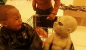 scared kid boy baby halloween toy doll shopping cart scary funny pics pictures pic picture image photo images photos lol