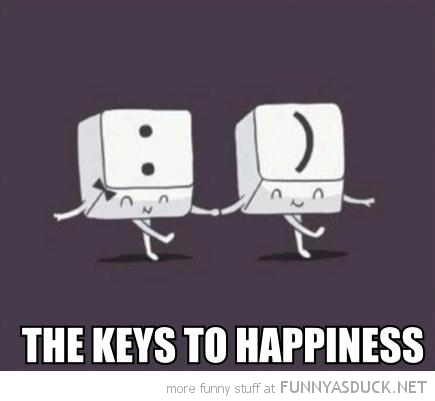 smile keys to happiness comic emoticon smiley face funny pics pictures pic picture image photo images photos lol