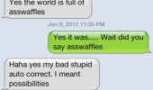 sms text iphone auto correct fail ass waffles funny pics pictures pic picture image photo images photos lol