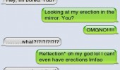 sms text iphone autocorrect fail erection mirror funny pics pictures pic picture image photo images photos lol