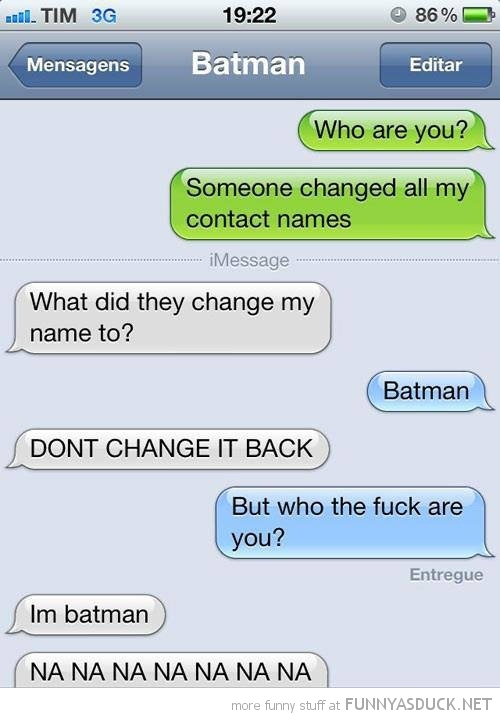 sms text iphone change name batman funny pics pictures pic picture image photo images photos lol