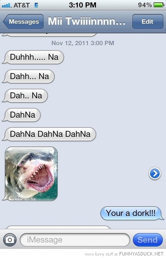 sms text iphone jaws dork funny pics pictures pic picture image photo images photos lol