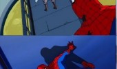 spider man cartoon comic book fight like man up here spider funny pics pictures pic picture image photo images photos lol
