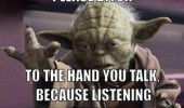 star wars movie film yoda talk to the hand bitch funny pics pictures pic picture image photo images photos lol