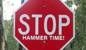 stop hammertime road sign funny pics pictures pic picture image photo images photos lol
