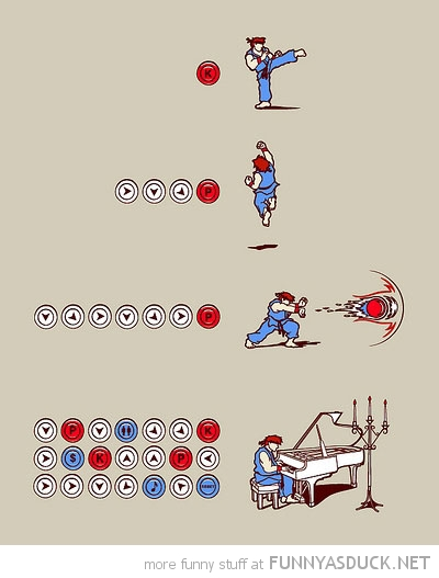 street fight comic combo moves gaming retro dragon punch play piano funny pics pictures pic picture image photo images photos lol