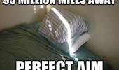sun beam window pillow bed face 93 million miles perfect aim funny pics pictures pic picture image photo images photos lol