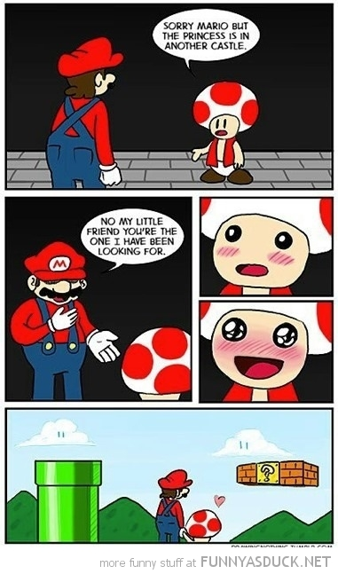 super mario toad nintendo comic princess another castle love comic funny pics pictures pic picture image photo images photos lol