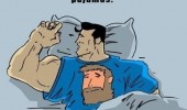 superman sleeping bed chuck norris pajamas t-shirt comic funny pics pictures pic picture image photo images photos lol