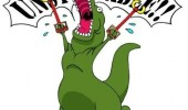 t-rex dinosaur comic metal arms unstoppable funny pics pictures pic picture image photo images photos lol