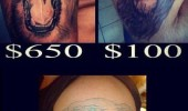 lion tattoos get what you paid for $10 fail funny pics pictures pic picture image photo images photos lol