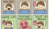bed time comic think things shut up brain funny pics pictures pic picture image photo images photos lol