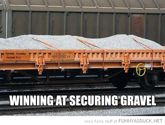 trailer full gravel securing win train funny pics pictures pic picture image photo images photos lol