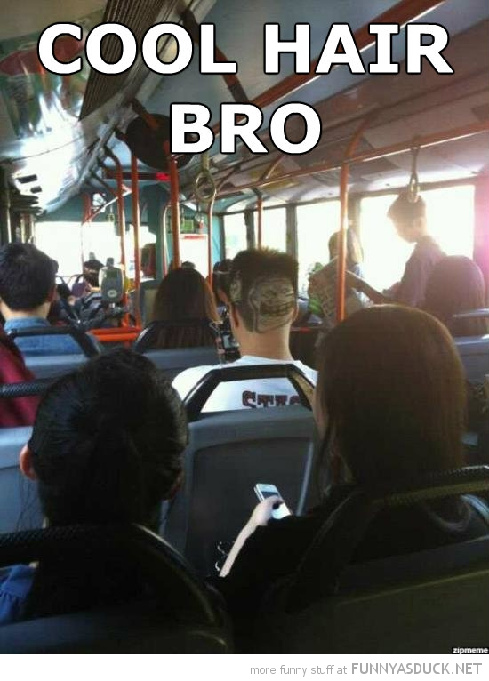 troll face meme kid boy bus cool hair bro funny pics pictures pic picture image photo images photos lol