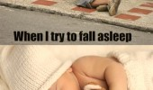 bed feels like fall asleep street alarm goes off baby funny pics pictures pic picture image photo images photos lol