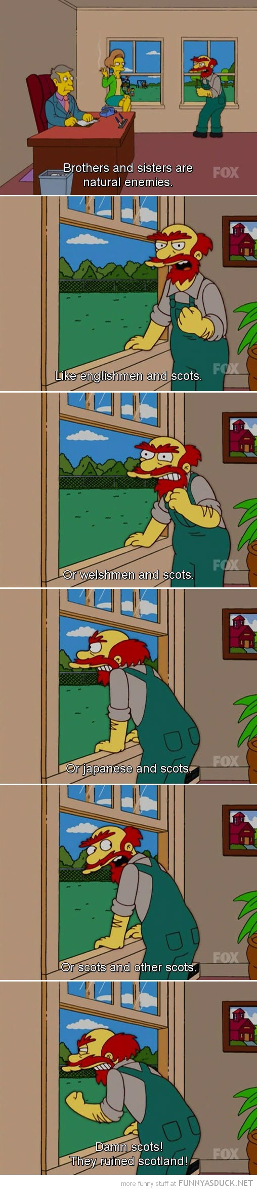 willie simpsons tv scene damn scots ruined scotland funny pics pictures pic picture image photo images photos lol