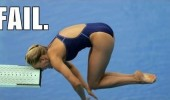 woman hitting head board diving fail swimming olympics funny pics pictures pic picture image photo images photos lol