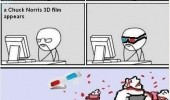 you tube 3d video chuck norris rage comic funny pics pictures pic picture image photo images photos lol