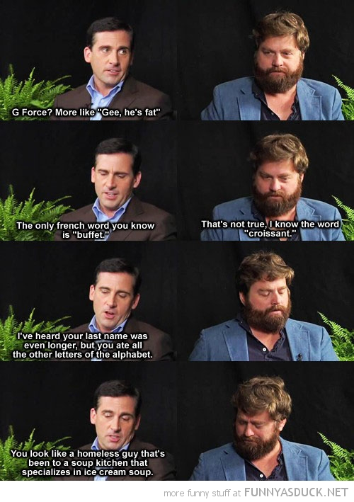 zach galifianakis steve carell interview homeless guy tv scene funny pics pictures pic picture image photo images photos lol
