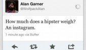 alan garner hangover twitter tweet much hipsters weigh instagram funny pics pictures pic picture image photo images photos lol