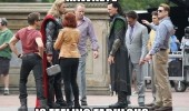 avengers movie set hawkeye feeling fabulous film funny pics pictures pic picture image photo images photos lol