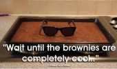 brownies cakes baking sunglasses shades wait till cool funny pics pictures pic picture image photo images photos lol