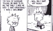 calvin hobbes comic wish everyone die dead funny pics pictures pic picture image photo images photos lol