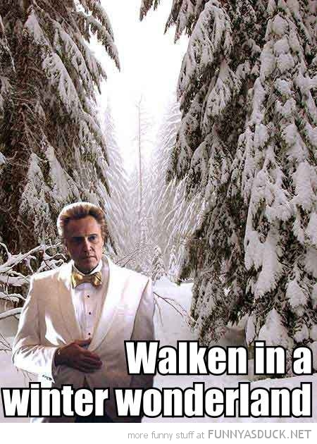 christopher walken winter wonderland snow movie film actor funny pics pictures pic picture image photo images photos lol