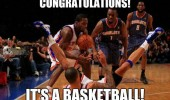 congratulations it's basketball player giving birth sport funny pics pictures pic picture image photo images photos lol