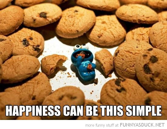 cookie monster toy happiness can be this simple funny pics pictures pic picture image photo images photos lol