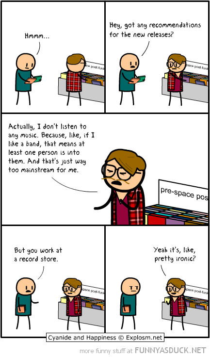 cyanide happiness comic record store hipster ironic funny pics pictures pic picture image photo images photos lol