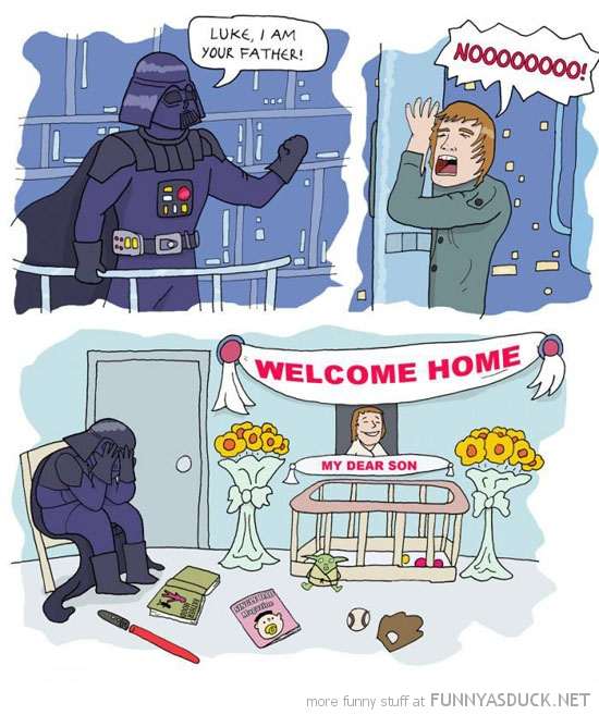 darth vader star wars luke father welcome home comic funny pics pictures pic picture image photo images photos lol