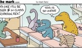 dinosaur t-rex comic school class participation so unfair funny pics pictures pic picture image photo images photos lol