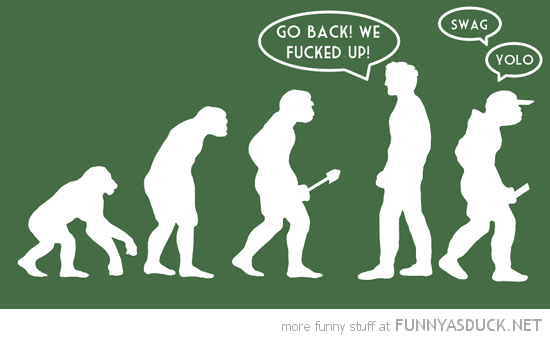 evolution man comic go back fucked up yolo swag funny pics pictures pic picture image photo images photos lol