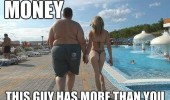 fat man hot sexy girl pool money this guy has more than you baby bird owl dangerous go alone take this zelda funny pics pictures pic picture image photo images photos lol
