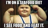 fat kid boy sea food eat it funny pics pictures pic picture image photo images photos lol