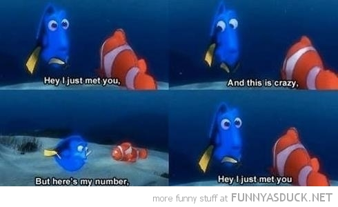 finding nemo dory hey just met you disney funny pics pictures pic picture image photo images photos lol