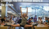 girl splits table challenge find attention whore funny pics pictures pic picture image photo images photos lol