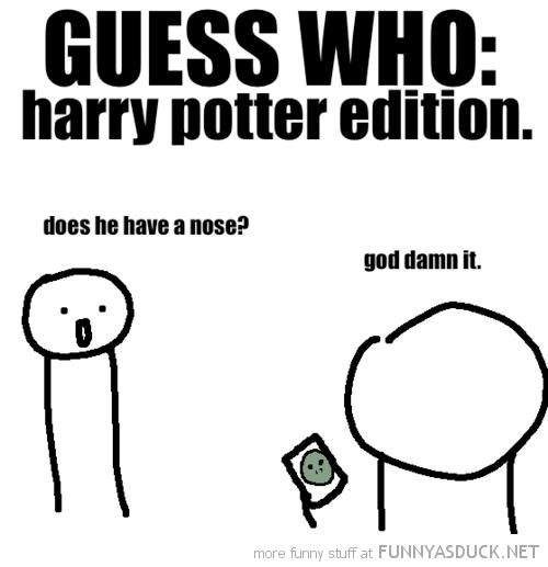 guess who harry potter edition got nose movie film funny pics pictures pic picture image photo images photos lol
