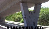 happy face bridge support love this job funny pics pictures pic picture image photo images photos lol