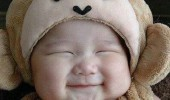 happy smiling kid girl greatly pleased korean monkey baby funny pics pictures pic picture image photo images photos lol