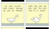 inspirational story comic ugly duckling lonely swan funny pics pictures pic picture image photo images photos lol