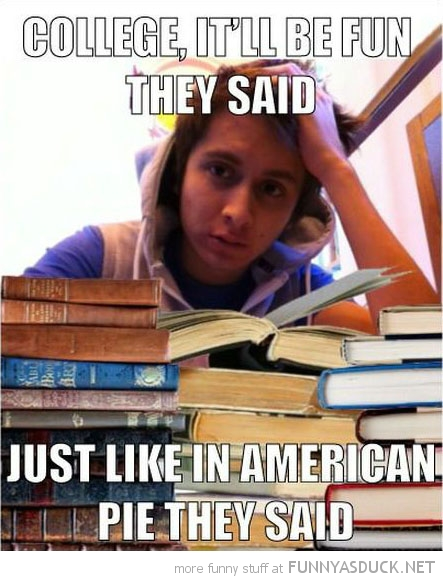 kid boy studying books go college they said just like american pie funny pics pictures pic picture image photo images photos lol