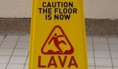 caution floor is lava sign childhood funny pics pictures pic picture image photo images photos lol