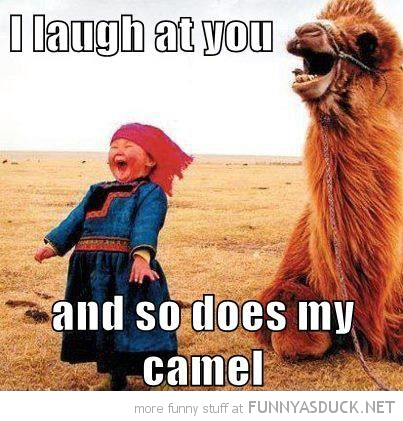 little girl laughing desert laugh at you so does camel animal funny pics pictures pic picture image photo images photos lol
