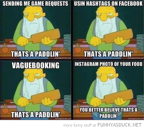 old man simpsons tv thats a paddling hashtags facebook funny pics pictures pic picture image photo images photos lol