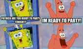 patrick spongebob Nickelodeon ready party go crazy funny pics pictures pic picture image photo images photos lol