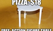 pizza plastic holder free action figure table funny pics pictures pic picture image photo images photos lol