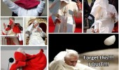 pope hat wind blew away forget this i quit funny pics pictures pic picture image photo images photos lol